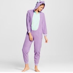 Dragon Onsie. Small. Purple and green